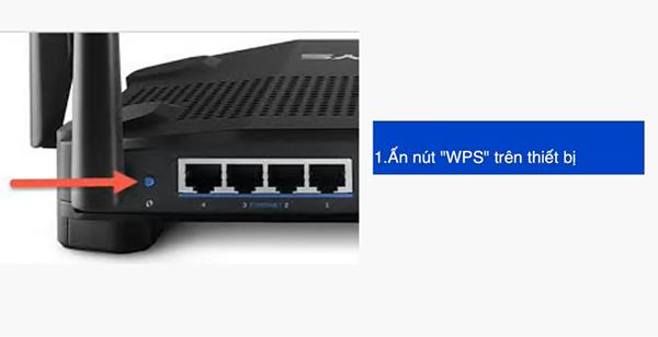 Nút WPS trên thiết bị
