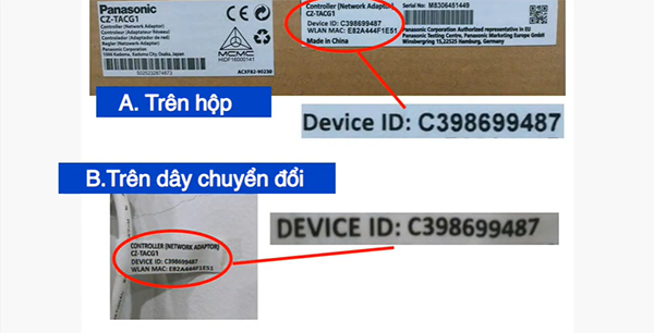 Nhập ID của máy lạnh Panasonic