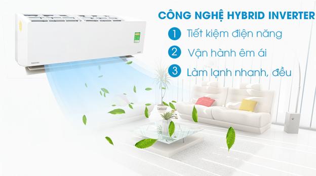 máy lạnh TOSHIBA Inverter 1.5 HP RAS-H13G2KCVP-V/H13G2AC