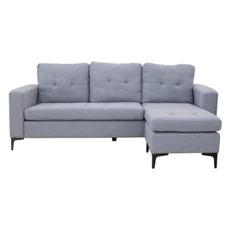 Sofa L Thor Xám Nhạt 196Cm