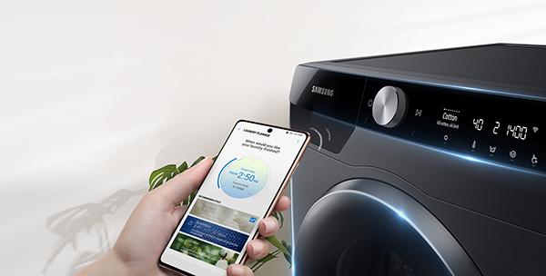 Bảng điều khiển AI Control có trên máy giặt Samsung